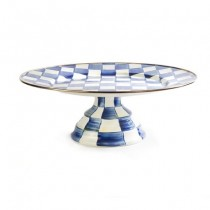 Buy the MacKenzie Childs Royal Check Pedestal Platter Large online at smithsofloughton.com