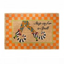 Buy the MacKenzie Childs Step In For A Spell Welcome Entrance Door Mat online at smithsofloughton.com