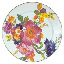 Buy the MacKenzie Childs White Flower Market Charger Plate online at smithsofloughton.com