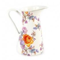 Buy the MacKenzie Childs White Flower Market Pitcher Medium online at smithsofloughton.com