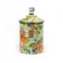 Buy the medium MacKenzie-Childs Green Flower Market Canister online at smithsofloughton.com