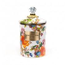 Buy the medium MacKenzie-Childs White Flower Market Canister online at smithsofloughton.com