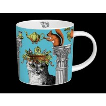Buy the Menagerie Cat Mug in Turquoise online at smithsofloughton.com