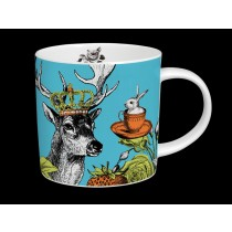 Buy the Menagerie Stag Mug in Turquoise online at smithsofloughton.com