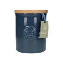 Buy the Navy Blue Kew Gardens Richmond Embossed Logo Storage Jar online at smithsofloughton.com