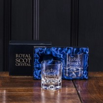 Buy the Pair of Royal Scot Whisky Tumbler Dimple Based Glass online at smithsofloughton.com