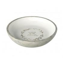 Buy the Parlane International Platter Bowl Olivio Distress White online at smithsofloughton.com
