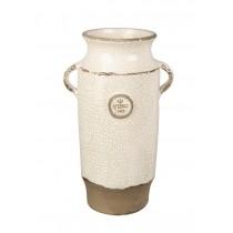 Buy the Parlane International Vase Vino Crackle Ivory online at smithsofloughton.com