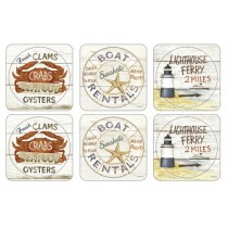 Buy the Pimpernel Coastal Signs Coasters online at smithsofloughton.com