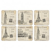 Buy the Pimpernel Postcard Sketches Coasters online at smithsofloughton.com