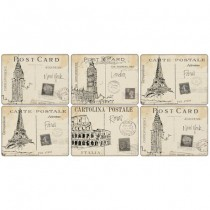 Buy the Pimpernel Postcard Sketches Placemats online at smithsofloughton.com