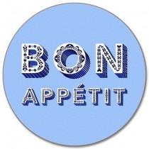 Buy the Round Jamida Asta Barrington Bon Appétit Blue Table Place Mat online at smithsofloughton.com