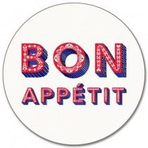 Buy the Round Jamida Asta Barrington Bon Appétit White Table Place Mat online at smithsofloughton.com