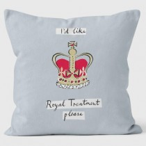 Buy the Royal Treatment Grey Alice Tait Cushions 40cm online at smithsofloughton.com