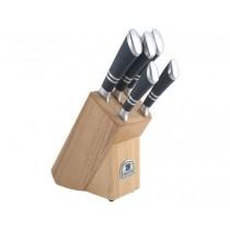Buy the Sabatier Maison Ashwood 5 Piece Knife Block online at smithsofloughton.com