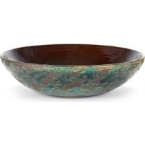 Buy the Serax Ceramic Patch's Green Brown Open Flat Dish online at smithsofloughton.com