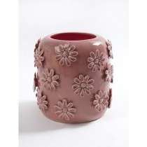 Buy the Serax Pot with Pink Flowers online at smithsofloughton.com