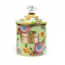 Buy the small MacKenzie-Childs Green Flower Market Canister online at smithsofloughton.com