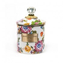 Buy the small MacKenzie-Childs White Flower Market Canister online at smithsofloughton.com