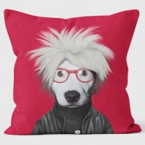 Buy the Soup Red Pets Rock Cushions 40cm online at smithsofloughton.com