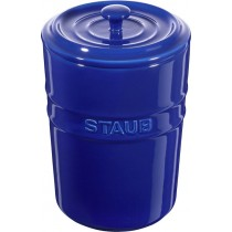 Buy the Staub Blue Ceramic Storage Pot online at smithsofloughton.com
