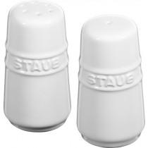 Staub Ceramic Salt and Pepper Shakers White