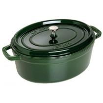 Buy the Staub Cocotte Oval Cast Iron Basil 31cm online at smithsofloughton.com