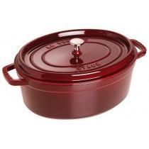 Buy the Staub Cocotte Oval Cast Iron Grenadine 31cm online at smithsofloughton.com