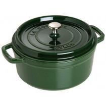 Buy the Staub Cocotte Round Cast Iron Basil 22cm online at smithsofloughton.com