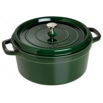 Buy the Staub Cocotte Round Cast Iron Basil 28cm online at smithsofloughton.com