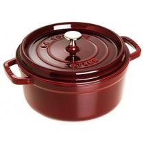 Buy the Staub Cocotte Round Cast Iron Grenadine 26cm online at smithsofloughton.com
