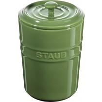 Buy the Staub Green Ceramic Storage Pot online at smithsofloughton.com