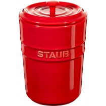 Buy the Staub Red Ceramic Storage Pot online at smithsofloughton.com