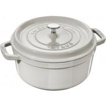 Buy the Staub Truffle Round Cast Iron Cocotte 24cm online at smithsofloughton.com