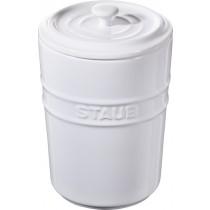 Buy the Staub White Ceramic Storage Pot online at smithsofloughton.com