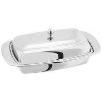 Buy the Stellar Polished Stainless Steel Butter Dish online at smithsofloughton.com