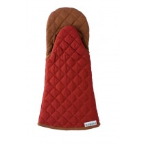 Buy the Sterck Carom Oven Glove Two Tone Denim Burgundy and Brown online at smithsofloughton.com