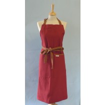 Buy the Sterck Carom Two Tone Denim Apron Burgundy and Brown online at smithsofloughton.com