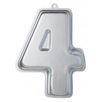 Buy the Sweetly Does It Silver Anodised Number Four Shaped Cake Pan online at smithsofloughton.com