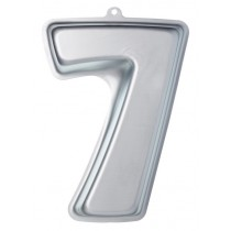 Buy the Sweetly Does It Silver Anodised Number Seven Shaped Cake Pan online at smithsofloughton.com