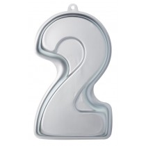 Buy the Sweetly Does It Silver Anodised Number Two Shaped Cake Pan online at smithsofloughton.com