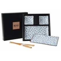 Buy the Tokyo Blue and White Sushi Plate Set online at smithsofloughton.com