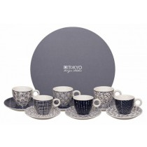 Buy the Tokyo Blue de Nimes Esspresso 12pcs Set online at smithsofloughton.com
