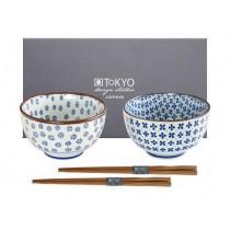 Buy the Tokyo Design Studio 2pcs Japan Flower Mixed Bowl Giftbox online at smithsofloughton.com