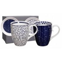 Buy the Tokyo Design Studio Bleu de Nimes Mug Set online at smithsofloughton.com