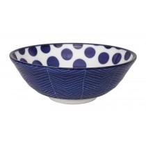 Buy the Tokyo Design Studio Bleu De'nimes Soba Bowl Dots online at smithsofloughton.com