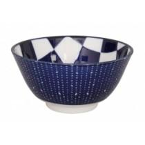 Buy the Tokyo Design Studio Bleu De'nimes Tayo Bowl Checker online at smithsofloughton.com