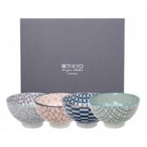 Buy the Tokyo Design Studio Geo Eclectic Rice Bowl Set online at smithsofloughton.com