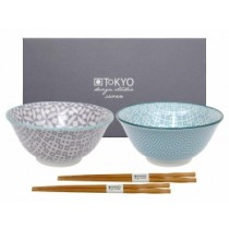 Buy the Tokyo Design Studio Geo Eclectic Tayo Bowl Set online at smithsofloughton.com
