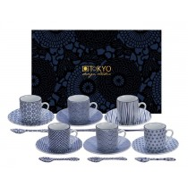 Buy the Tokyo Design Studio Nippon Blue Espresso Cup Saucer and Spoon Set online at smithsofloughton.com